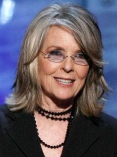 "Gray Hair --- Diane Keaton (age On Aging: ""The goal is to continue in good and bad, all of it. To continue to express myself, particularly. To feel t. Diane Keaton Age, Pelo Color Plata, Hollywood, Drop Dead Gorgeous, Ageless Beauty, Going Gray, Grey Hair, Lilac Hair, Pastel Hair"