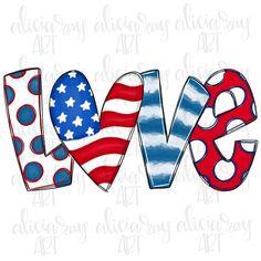 Love Png, Love Doodles, Doodle Lettering, Patriotic Decorations, Patriotic Crafts, Patriotic Shirts, Thing 1, Baseball, Pattern Paper