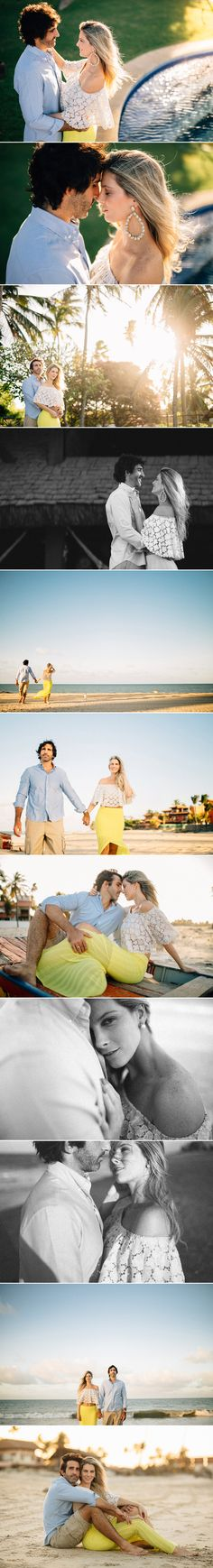 Engagement Session ideias. E-session on the beach. Brazil wedding photographer, sessão de casal na praia do cumbuco. Fotos de casal na praia.