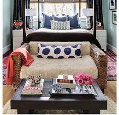 Love this bedroom arrangement!