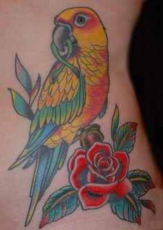 Sun Conure tattoo