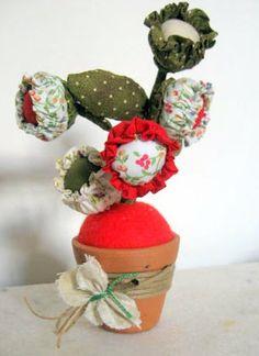 ARTEMELZA - Arte e Artesanato: Flor com 3 fuxicos - passo a passo