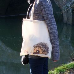 Super cute Little Hedgehog Illustrated Cotton Tote Bag - £9. Available here; http://www.etsy.com/listing/117948039/little-hedgehog-illustrated-cotton-tote