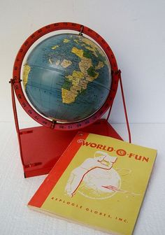 "1950 Retro World Globe Set - 6"" Replogle"