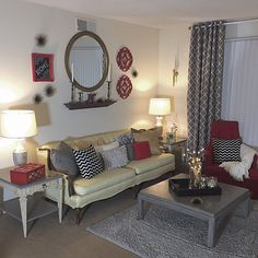Living area featuring several vintage pieces