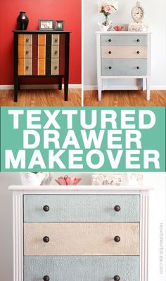 Textured accent table makeover using Chalk Paint and Wood Icing. This look is so cool!
