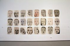 #faces Marlene Dumas, #Chlorosis (Love sick), 1994, Inch, gouache, and synthetic polymer paint on paper.