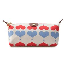 Natural Luxe - apple & bee - organic cotton lovehearts cosmetic bag
