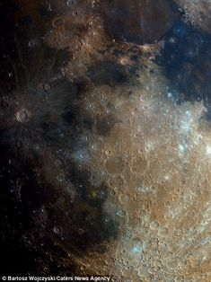 Scars left by millions of meteorite impacts through the moon's history can also be seen in the image above