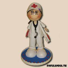Fofucha enfermera morena