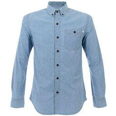 Farah 1920 Men's Dodson Denim Shirt Washed Blue
