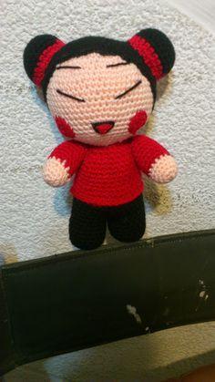 NOVEDADES JENPOALI: PATRÓN PUCCA Free Crochet, Knit Crochet, Crochet Hats, Crocheted Toys, Amigurumi Tutorial, Asian Doll, Crochet Dolls, Fiber Art, Free Pattern