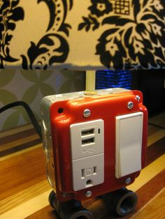 DIY lamp with power