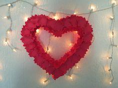 Decoração para Noivado   Coração de Isopor