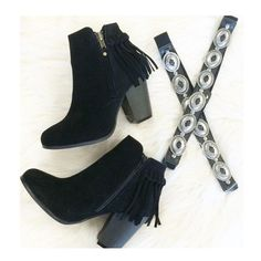 Fringe Booties in Black New! Shoes Ankle Boots & Booties