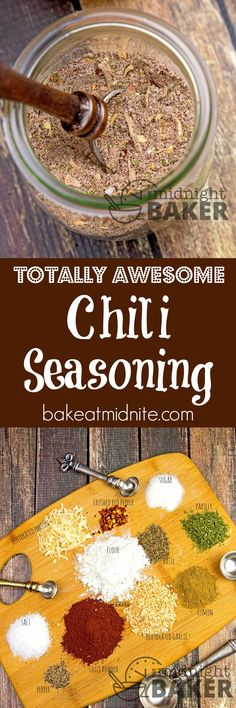 Use this chili seasoning mix to make the most awesome chili ever! Can be made mild to hot! Use this chili seasoning mix to make the most awesome chili ever! Can be made mild to hot! Homemade Spices, Homemade Seasonings, Homemade Chili, Soup Mixes, Spice Mixes, Spice Blends, Chili Seasoning Mix, Dips, Saveur