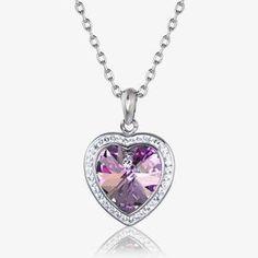 180ca79e3e79e1 Sabrina Heart Necklace Made With Swarovski® Crystals Swarovski Heart  Necklace
