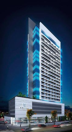 Uplift the quality of your work place to uplift the quality of your work Condominium Architecture, Office Building Architecture, Building Facade, Futuristic Architecture, Facade Architecture, Minecraft Modern, Hotel Concept, Tower Design, Modern Architects