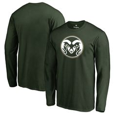 Colorado State Rams Fanatics Branded Big & Tall Primary Team Logo Long Sleeve T-Shirt - Green