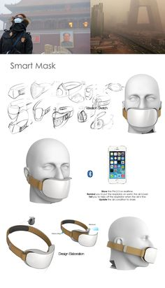 SMART MASK - - Electronics gadgets,Electronics apple,Electronics for teens,Electronics organization,Electronics projects Electronics Gadgets, Electronics Projects, Breathing Mask, Industrial Design Sketch, Wearable Device, Electronic Devices, Mask Design, Digital Camera, Cell Phone Accessories