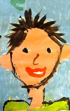Self portrait use for first essay-fifth grade w/paper bag - 3 things about Drawing For Kids, Painting For Kids, Kindergarten Self Portraits, All About Me Art, Line Sketch, Art Therapy Projects, Art Projects For Adults, Fifth Grade, Fantasy Girl