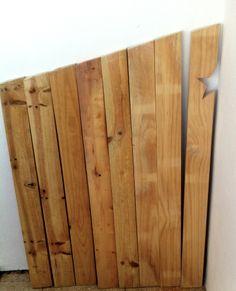 cabecero, corte de maderas
