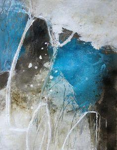 17 - o.T. Mischtechnik auf Acryl-Malkarton( aus der Serie Form und Struktur) - 64 cm x 50 cm (HxB)