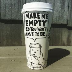 "photo: ""Tuesday morning after a 4 day weekend. To Go Coffee Cups, Coffee Latte Art, Travel Mug Coffee, Coffee Drinks, Coffee Shop, Happy Coffee, Coffee Is Life, I Love Coffee, Coffee Humor"