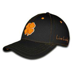 b6c114795ac Black Clover Premium Fitted Cap - Orange Clover on Black by Black Clover.  Buy it   ReadyGolf.com. Fitted CapsSnapbackBaseball ...