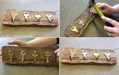 Image sur le bricolage dans uploads par Lillian sur We - Beton Creatif Diy And Crafts, Arts And Crafts, Jewelry Organizer Wall, Recycling, Woodworking Bed, Home And Deco, Recycled Art, Dream Decor, Diy Art