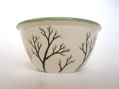 Branches Cereal Bowl in Green Speckle