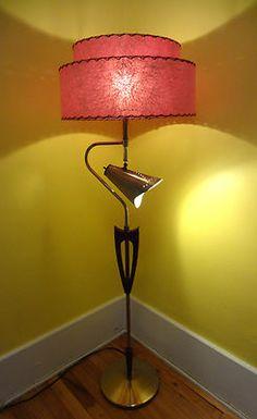 Vtg MCM Majestic RETRO 1950s/60s Space AGE Atomic MAD MEN Era Floor Lamp w/Shade