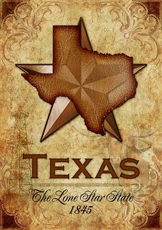 'Texas Independence - The Lone Star State' by Susan Sowers Texas Pride, Texas Usa, West Texas, Lone Star Tattoo, Texas Independence Day, Texas Tattoos, Framed Art Prints, Canvas Prints, Texas Forever