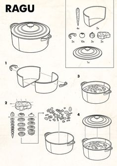 Ikea style Ragu #tobatron instructional-graphics-instruction-user-manual-retro-illustration-airplane-safety-card-parody www.tobatron.com