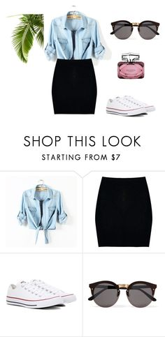 """Fashion"" by dodka529 on Polyvore featuring moda, Boohoo, Converse, Illesteva i Gucci"