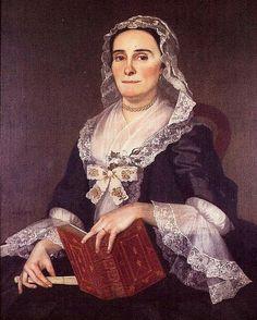 fashion 1700s america Mary Lea (Mrs. John Harvey).by Joseph Blackburn