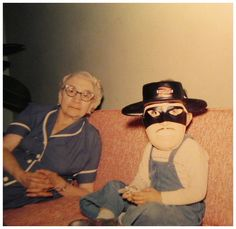 Artie liked his Zorro mask but his big sister Eileen took the prize with her Granny out fit.