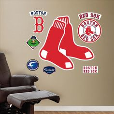 Boston Red Sox Logo-Fathead Decal | Set