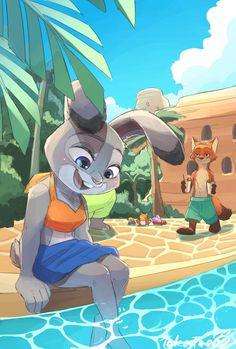 Cartoon Girl Hot, Zootopia Art, Fanart, Nick And Judy, Judy Hopps, Furry Drawing, Space Cat, Furry Art, Disney Pixar