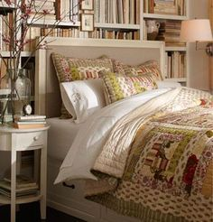 In a compact bedroom like this one, creative storage is key. An expertly crafted…