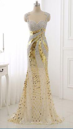 Night long beautiful dress, the key type foil #prom #promdress #dress #eveningdress #evening #fashion #love #shopping #art #dress #women #mermaid #SEXY #SexyGirl #PromDresses