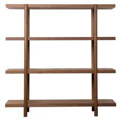 Image result for floating timber shelves study
