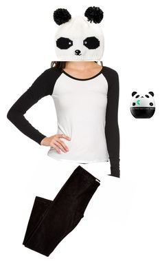 """Panda Bear Costume Under $50"" by abbyd2403 ❤ liked on Polyvore featuring Tony Moly, women's clothing, women's fashion, women, female, woman, misses and juniors"