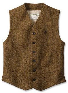 Sparsholt Tweed Work Vest You'll enjoy the classic look and rugged styling of our men's tweed work vest. Made in USA.