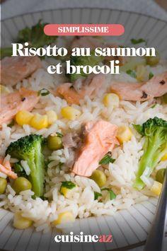Une recette de plat italien à base de riz et poisson: le risotto au saumon et brocoli #recette#cuisine #risotto #saumon #brocoli #riz Grains, Food, Gourmet, Salmon And Broccoli, Rice, Salmon Risotto, Italian Dishes, Healthy Meals, Fish