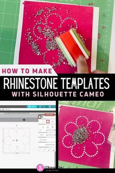 Follow along to learn how to make a rhinestone template with Silhouette CAMEO 4 in just a few easy steps.