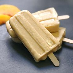 A sweet and creamy ice pop, featuring nutrient-rich peaches and coconut milk! These Peaches & Cream Ice Pops are perfect on a warm summer day.
