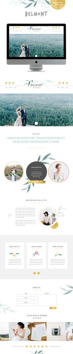 Natural design, romantic design. Minimal website design with creative design elements for memorable branding