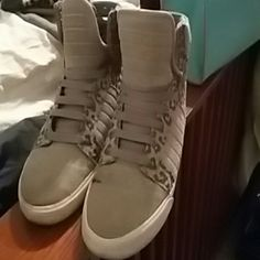 Supra Grey w animal print on the sides comfortable size 8 Supra  Shoes Sneakers