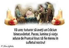 Vă urez tuturor să aveți un Crăciun binecuvântat. Pacea, lumina și viața aduse de Pruncul Iisus să fie mereu în sufletul nostru!